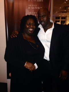 Maureen Worrell with Fredi Nwaka